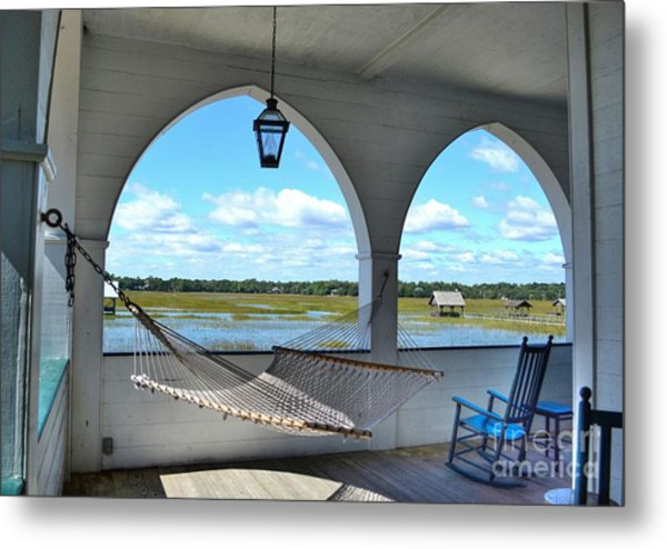View Of The Marsh From The Pelican Inn Metal Print