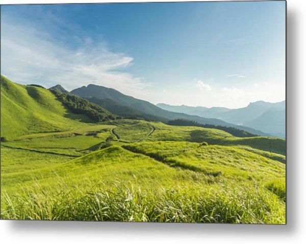 View Of The Plateau,soni Kougen In Japan Metal Print by Yagi-Studio