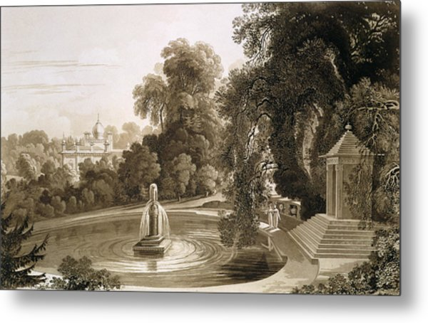 View Of The Temple Of Suryah Metal Print