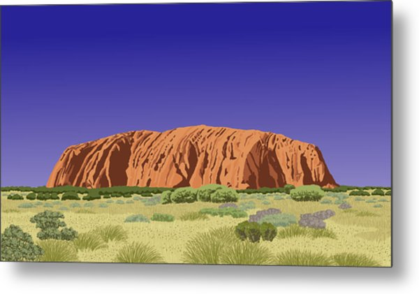 View Of Uluru / Ayers Rock Metal Print