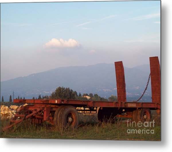 View On Vallombrosa Metal Print