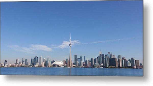 View Over Lake Ontario Towards Downtown Metal Print