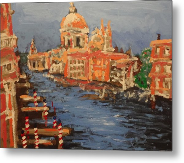 View Over The Canal Metal Print by Paul Benson