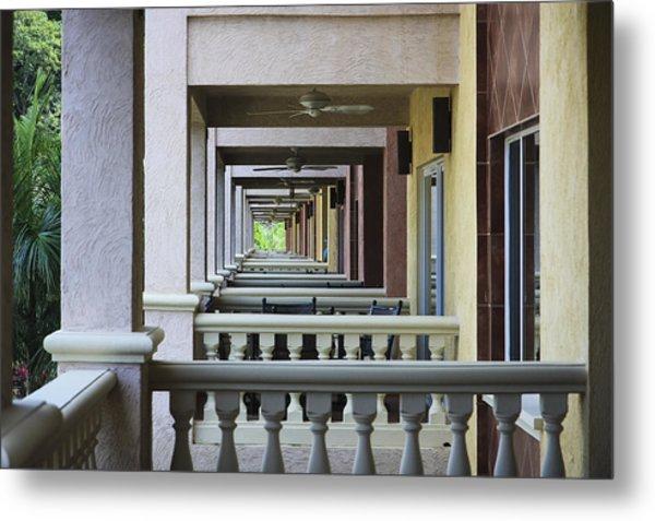 View Through Balconys Metal Print