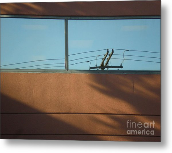 View To A Power Line Metal Print