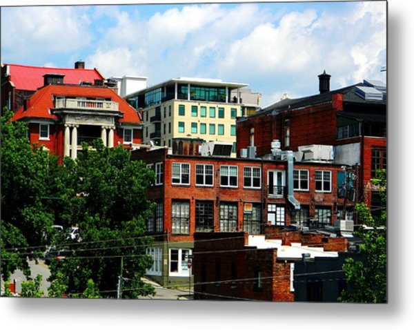 View Towards Lexington Avenue In Asheville Metal Print