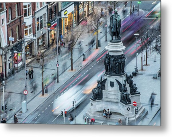 Viewpoint Over Oconnell Street, Dublin Metal Print by David Soanes Photography