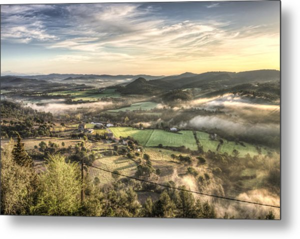 Views From Balsareny Castle In Catalonia Metal Print