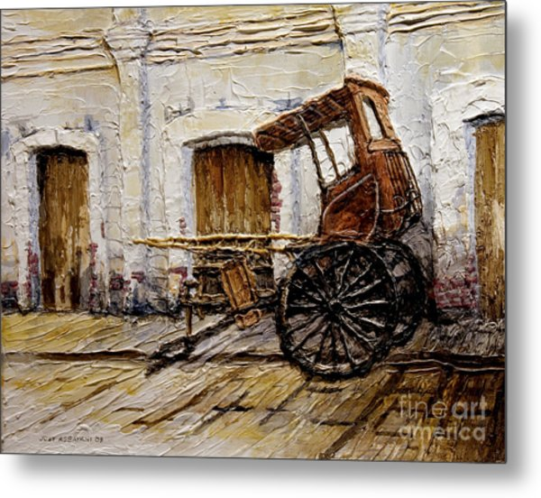 Vigan Carriage 1 Metal Print