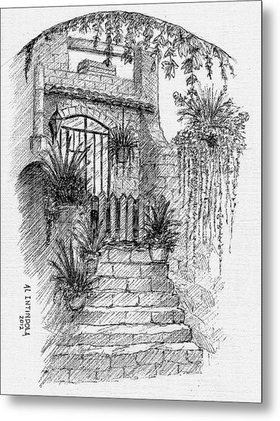 Villa Doorway Metal Print