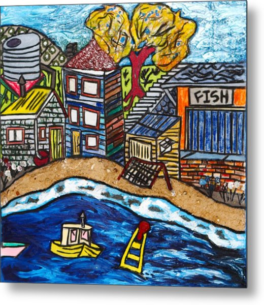 Village By The Sea Metal Print