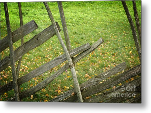 Village Fence Metal Print by Jolanta Meskauskiene