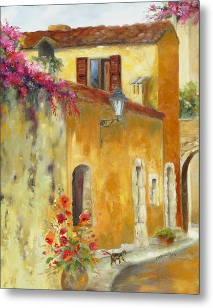 Village In Provence Metal Print