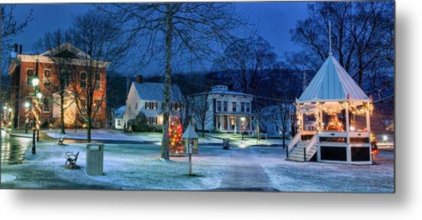 Village Of New Milford - Winter Panoramic Metal Print