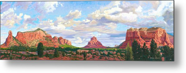 Village Of Oak Creek - Sedona Metal Print by Steve Simon