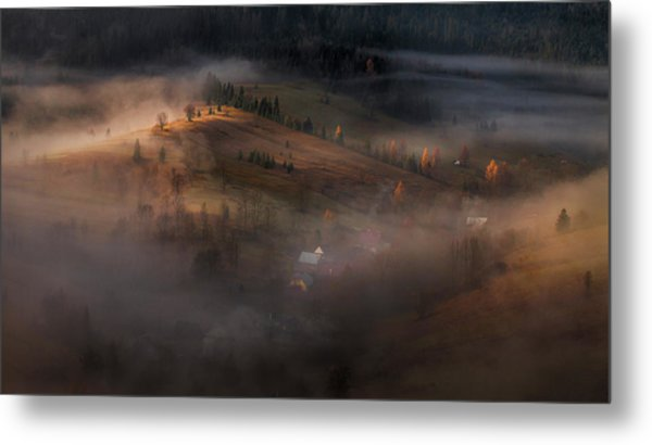 Village Under The Cover Metal Print by Peter Svoboda, Mqep