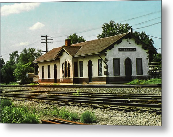 Villisca Train Depot Metal Print