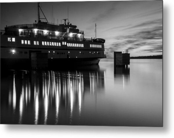 Vineyard Ferry Metal Print