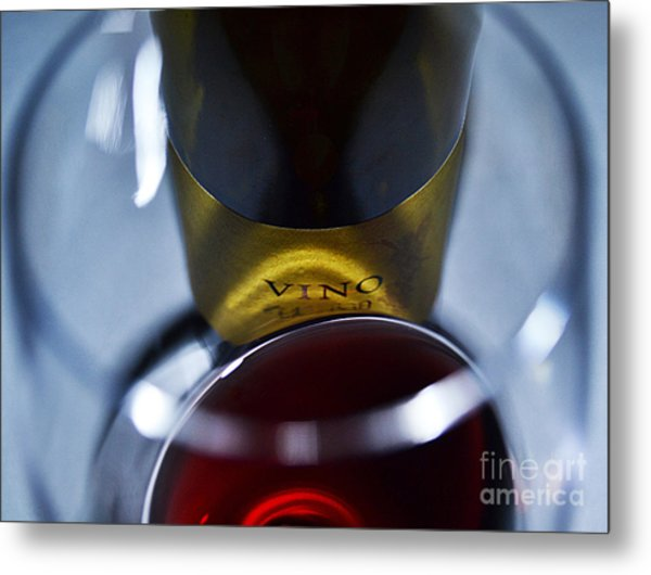 Vino Reflections Metal Print by John Debar