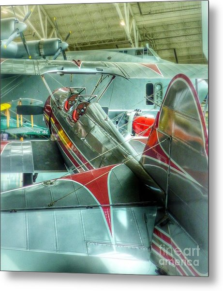 Vintage Airplane Comparison Metal Print