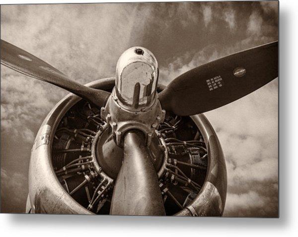 Vintage B-17 Metal Print