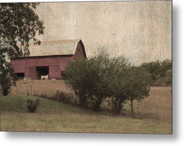 Vintage Barn Scene Metal Print