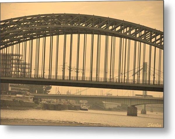 Vintage Bridge Metal Print