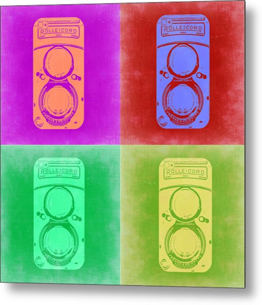 Vintage Camera Pop Art 3 Metal Print