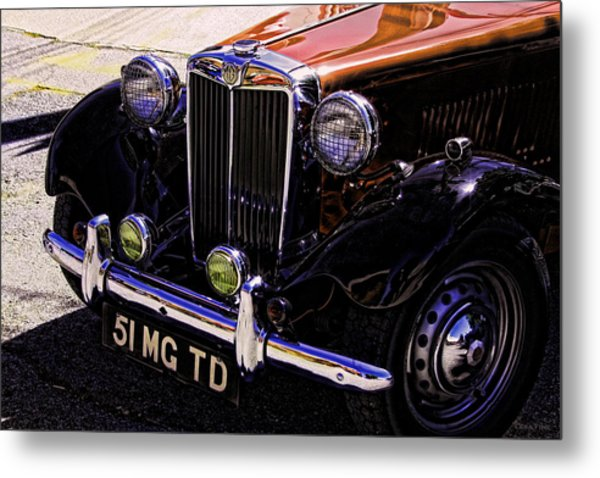 Vintage Car Art 51 Mg Td Copper Metal Print