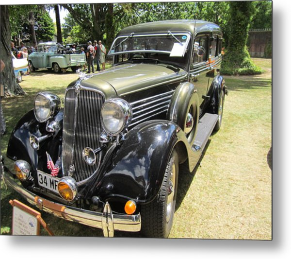 Vintage Car  Metal Print by Max Lines