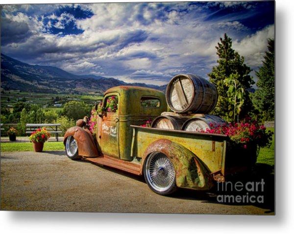 Vintage Chevy Truck At Oliver Twist Winery Metal Print