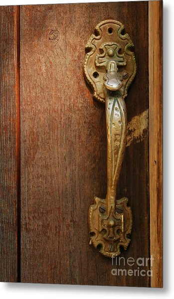Vintage Door Handle Metal Print