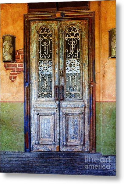 vintage door in Hico TX Metal Print