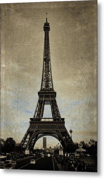 Vintage Eiffel Bronze Metal Print