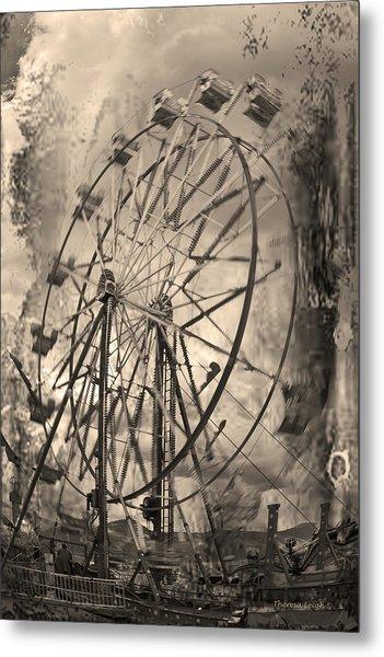 Vintage Ferris Wheel Metal Print