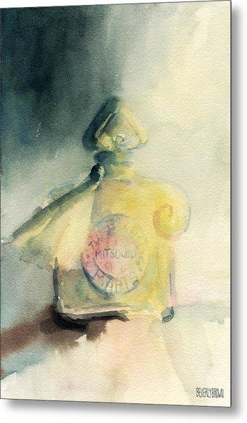 Vintage Guerlain Mitsouko Perfume Bottle Metal Print