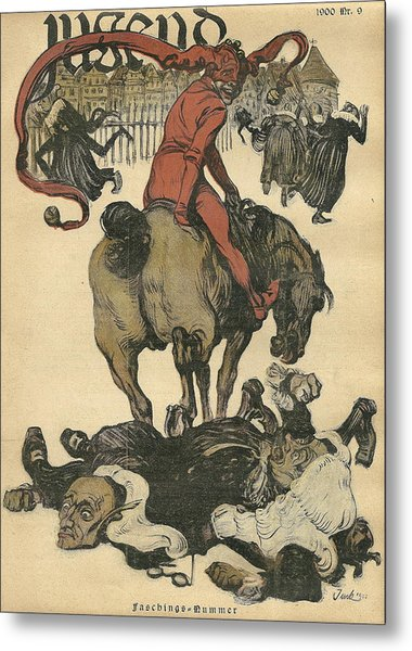 Vintage Jugend Magazine Cover Metal Print