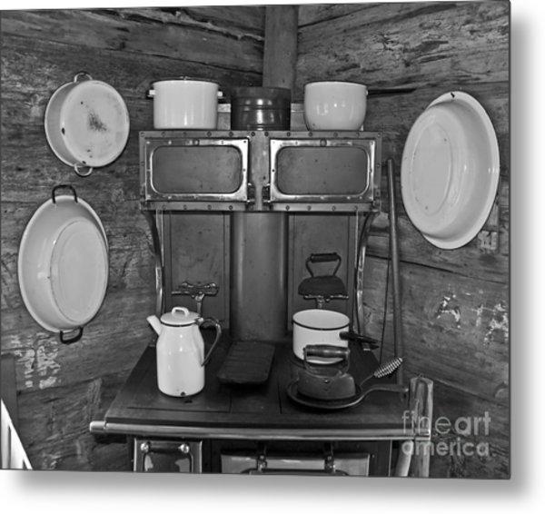 Vintage Kitchen And Wood Stove Metal Print by Valerie Garner