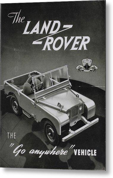 Vintage Land Rover Advert Metal Print