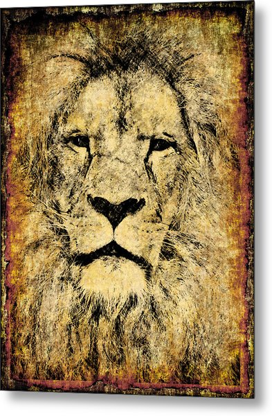 Vintage Lion King Metal Print
