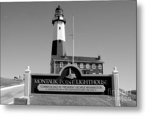 Vintage Looking Montauk Lighthouse Metal Print