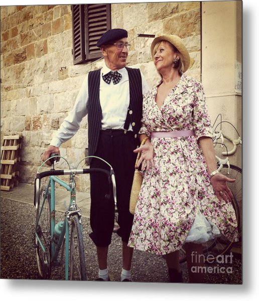 Vintage Love At L'eroica Metal Print