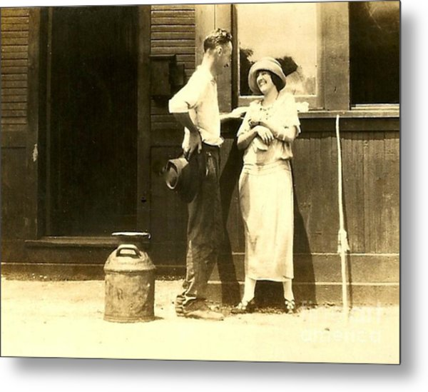New Orleans Vintage Love In Memory Of My Deceased Grandfather From Ireland I Never New Metal Print