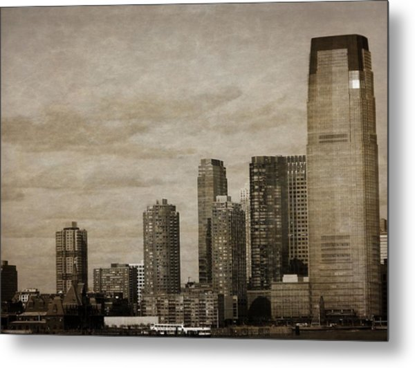 Vintage Manhattan Skyline Metal Print