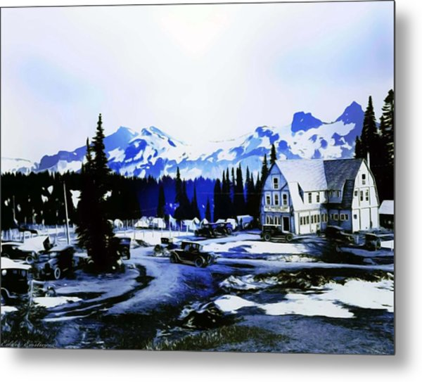 Vintage Mount Rainier Camp And Store Supplies Early 1900 Era... Metal Print