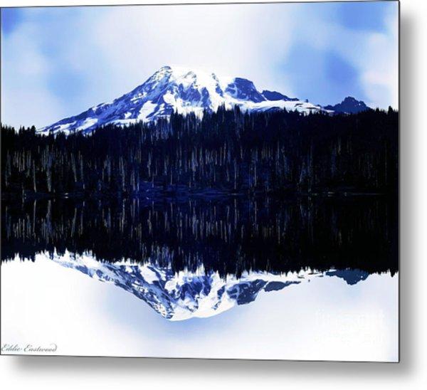 Vintage Mount Rainier From Reflection Lake Early 1900 Era... Metal Print
