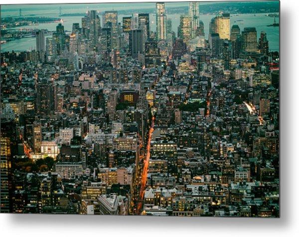 Vintage New York Skyline Metal Print