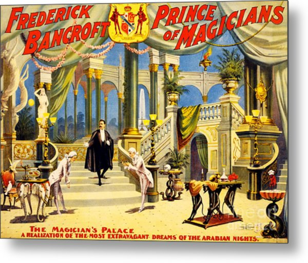 Vintage Nostalgic Poster - 8038 Metal Print by Wingsdomain Art and Photography