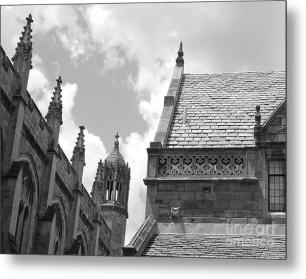 Vintage Ornate Architecture Metal Print