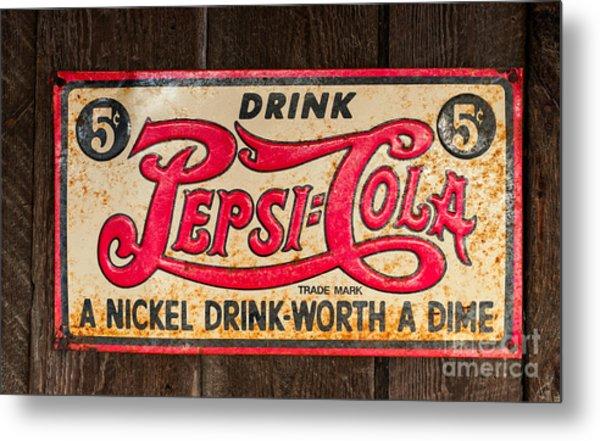 Vintage Pepsi Cola Ad Metal Print